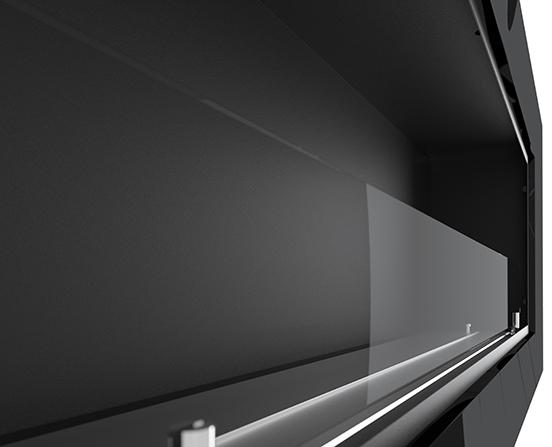 Биокамин Frame 120cm <br> белый со стеклом