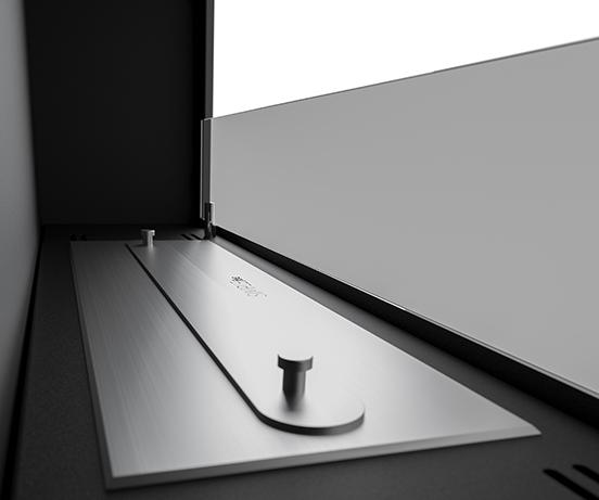 Биокамин Frame 90cm <br> белый со стеклом