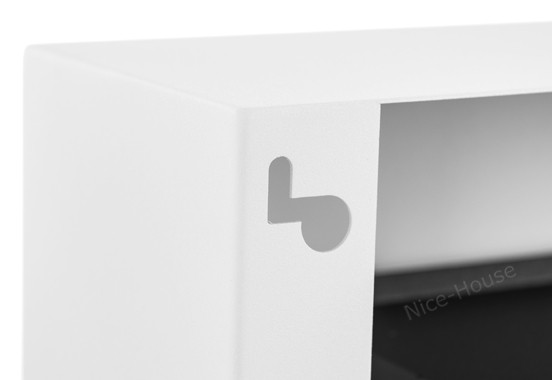 Биокамин NiceHouse со стеклом <br> BOX 90х40 белый