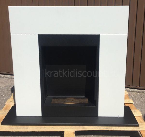 Биокамин Kratki <br> WHISKEY 2 белый со стеклом
