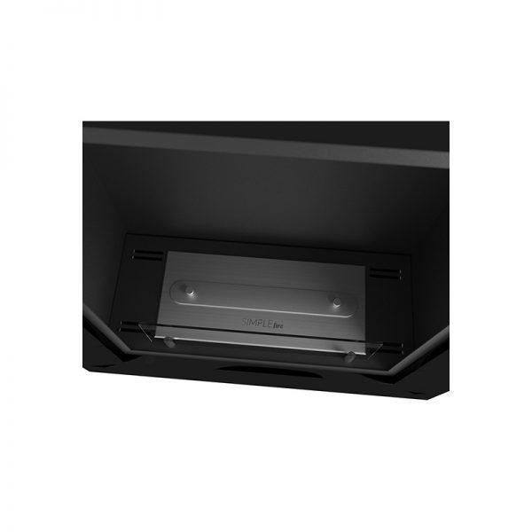 Биокамин Frame 550  <br> черный со стеклом