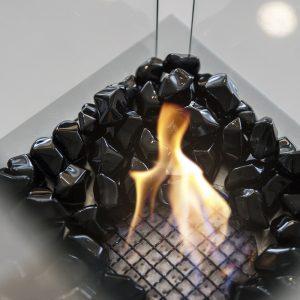 Камни FIRE GLASS Kratki черный кристалл