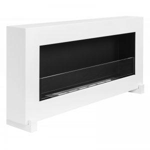 Биокамин NiceHouse BOX со стеклом 90см На пол, белый