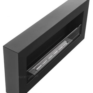 Биокамин NiceHouse со стеклом BOX 90х40 черный