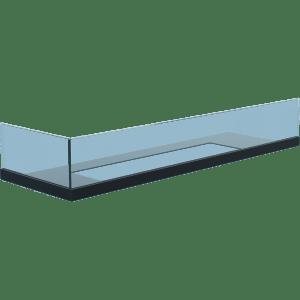 Стекло для камина Delta 70 левый угол
