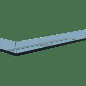 Стекло для камина Delta 90 левый угол