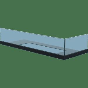 Стекло для камина Delta 60 правый угол