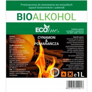 Биотопливо EcoLine с запахом корицы и апельсина 1L EU